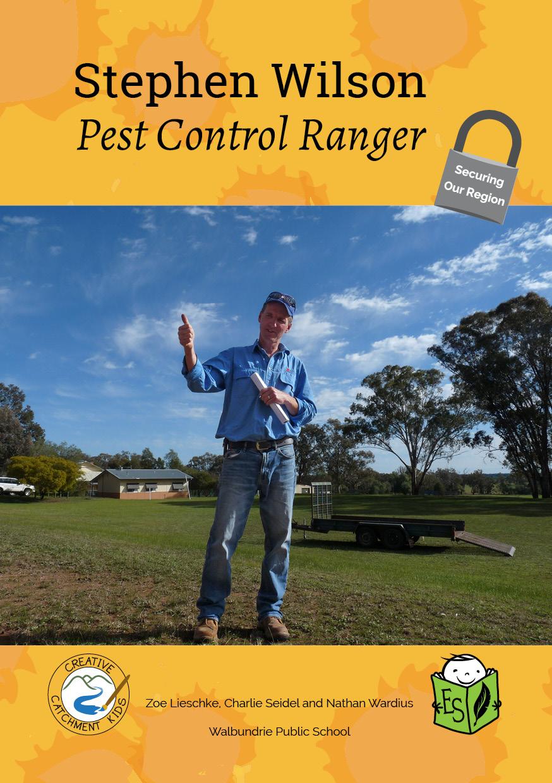 Stephen Wilson, Pest Control Ranger