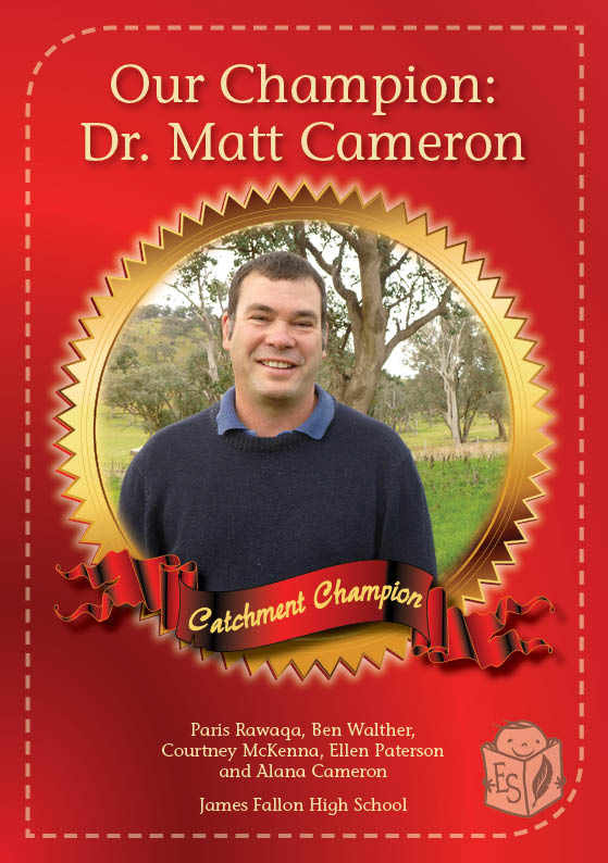 Our Champion: Dr Matt Cameron